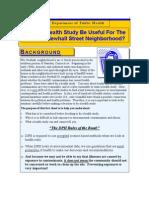 Health Study Fact Sheet
