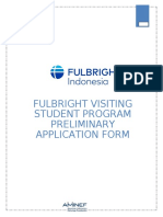 Fulbright Student Application Form
