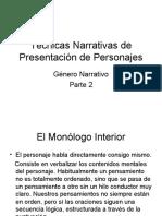 Técnicas Narrativas de Presentación de Personajes