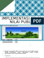 IMPLEMENTASI NILAI-NILAI PUBLIK (akuntabilitas)