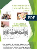 Como estimular el desarrollo integral de niños y