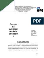 politizacion de la educacion