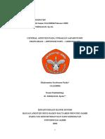 CRS GA Pada Debridement Infeksi Luka Operasi