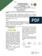 Quinto informe. Reacciones generales de aldehidos y cetonas