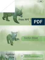 Silhouette Brown Bear PowerPoint Templates.pptx