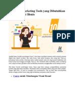 10 Online Marketing Tools yang Dibutuhkan Saat Memulai Bisnis