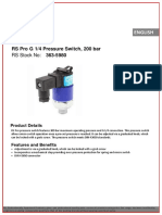 RS Pro G 14 Pressure Switch 200 bar