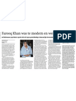 101204 TROUW -Farooq Khan Murdered Because of His Critical Voice
