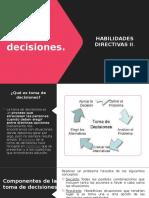 Tema - La toma de decisiones
