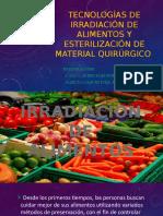tecnologia de irradiacion de alimentos y esterilizacion de material quirurgico.pptx