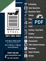 Wasatch steel catalog