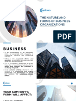 The nature and forms of business organizations