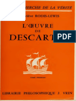 (A la recherche de la vérité) Geneviève Rodis-Lewis - L'œuvre de Descartes. Tome premier-Vrin (1971).pdf