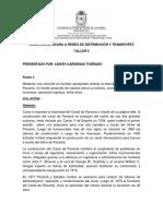TALLER 5 LOGISTICA APLICADA A REDES DE DISTRIBUCION Y TRANSPORTE