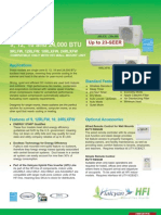 Fujitsu 9RLFW, 12RLFW, 18RLXFW and  24RLXFW HFI Mini Split Systems Brochure