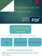 Duties & Responsibilities of shift engineer