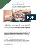 Canal de Comunicación - Concepto, tipos, función y ejemplos