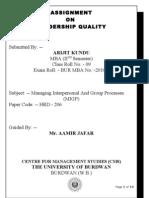 Leadership Quality