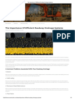 The Importance Of Efficient Roadway Drainage Systems