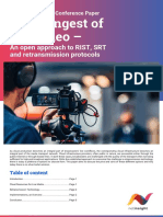 White Paper Cloud Ingest of Live Video – an Open Approach to RIST SRT and Retransmission Protocols