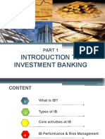 1. Introduction to Investment Banking