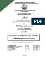 Conception des MEMS-APplication aux accéléromètres