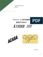 Managementul Marketingului - Kinder Joy
