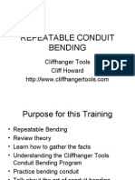 Repeatable Conduit Bending
