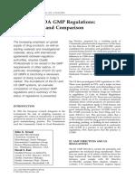 EU and FDA GMP Regulations comparison