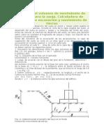 Cálculo del volumen de movimiento de tierras para la zanja