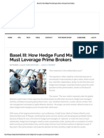 FinOps - Basel III - How Hedge Fund Managers Must Leverage Prime Brokers 2015
