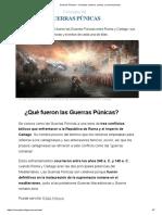 Guerras Púnicas - Concepto, historia, causas y consecuencias