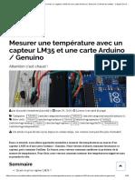 Mesurer une température avec un capteur LM35 et une carte Arduino _ Genuino _ Carnet du maker - L'esprit Do It Yourself