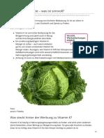 verbraucherzentrale.de-Vitamin K-Produkte  was ist sinnvoll