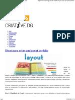 CRIATIVE DG – Dicas para criar um layout perfeito