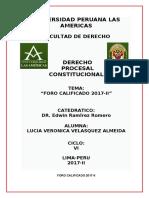 OKTRABAJO FORO DERECHO PROCESAL CONSTITUCIONAL