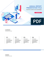 Annual Report Free powerpoint template minimal design idea