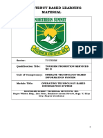 TOURISM PROMOTION SERVICES NC II CBLM CORE 1
