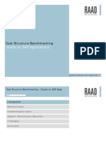 Cost Structure Bench Marking Oracle Sap Final