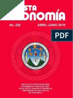 Revista Economía 220. Abril junio de 2019