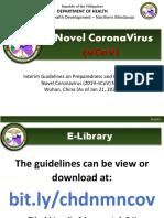 NCoV Interim Guidelines as of 30 Jan 2020