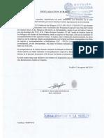 Declaración Jurada de Carmen Delgado