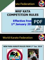 WKF KATA Education PowerPoint  effective 1st Jan. 2019