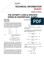 Affinity Laws and Specific Speed In Centrifugal Pumps