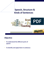 Parts of Speech,Structure of Sentences.