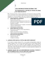 PREGUNTAS MATERIA TECNICA DE ARMAS Y TIRO TF. VILLAZANTE