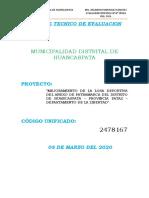 INFORME TECNICO DE EVALUACION - HUANCASPATA