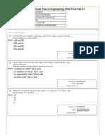 Response Sheet