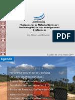 Aplicaciones de Métodos Eléctricos y Electromagnético-Ing. Nilsson Mori Sánchez