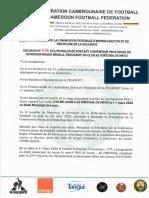 La Fécafoot suspend provisoirement le président de AS Fortuna [DECISION]